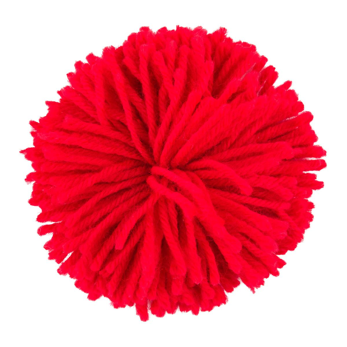 Red Pom Pom Yarn Bow