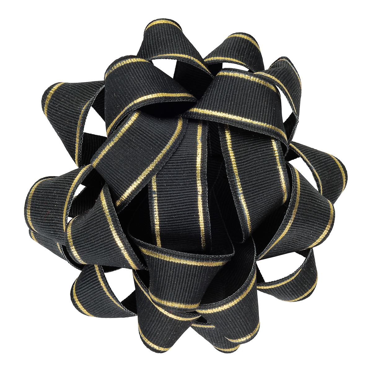 Black & Gold Grosgrain Bow
