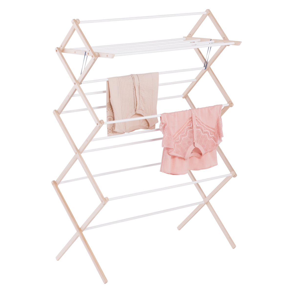15-Dowel Wooden Clothes Drying Rack