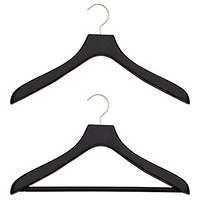 Superior Black Soft Matte Wood Hangers