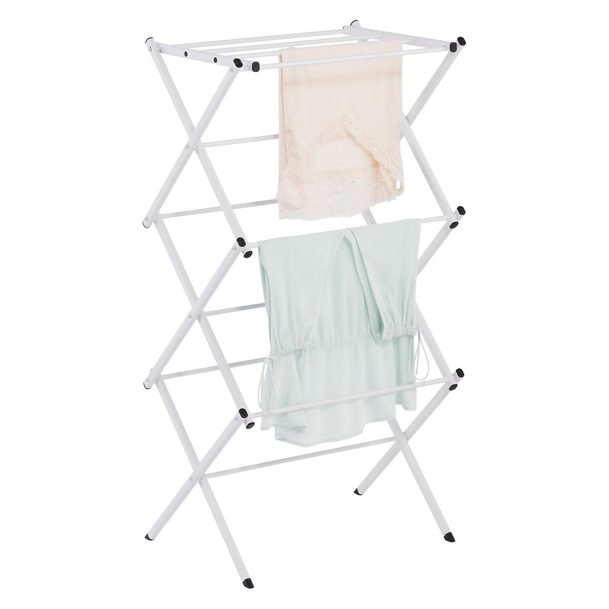 Compact Accordion Clothes Drying Rack The Container Store