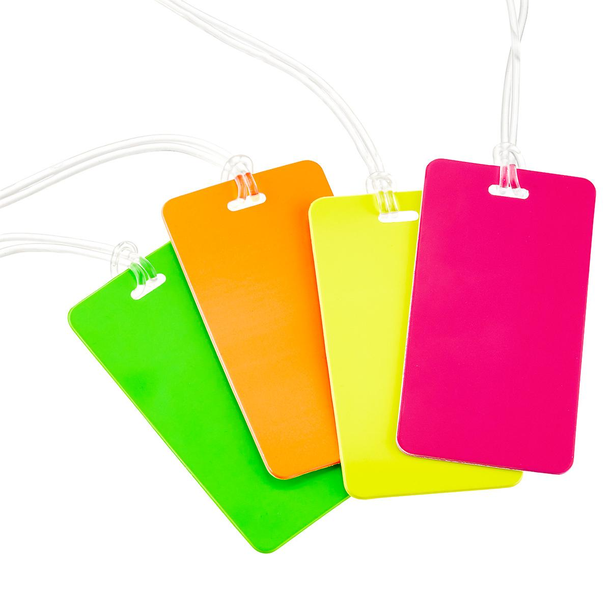 Neon Luggage Tag The Container Store