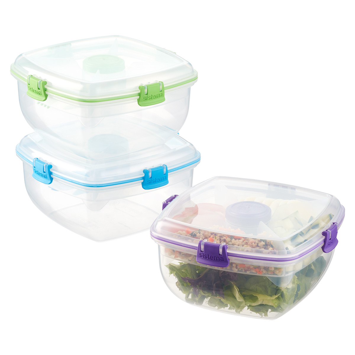 Sistema 1.3 qt. Salad Max Lunch Box