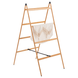 Bamboo Ladder Clothes Drying Rack The Container Store