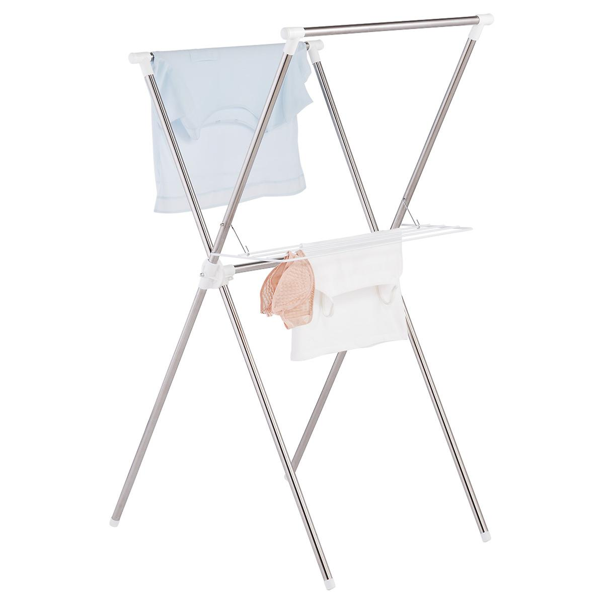 Stainless Steel Folding X-Frame Clothes Drying Rack