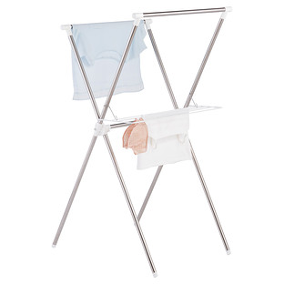 Iris Stainless Steel Folding X-Frame Clothes Drying Rack