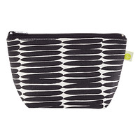 Black Stripe Travel Pouch