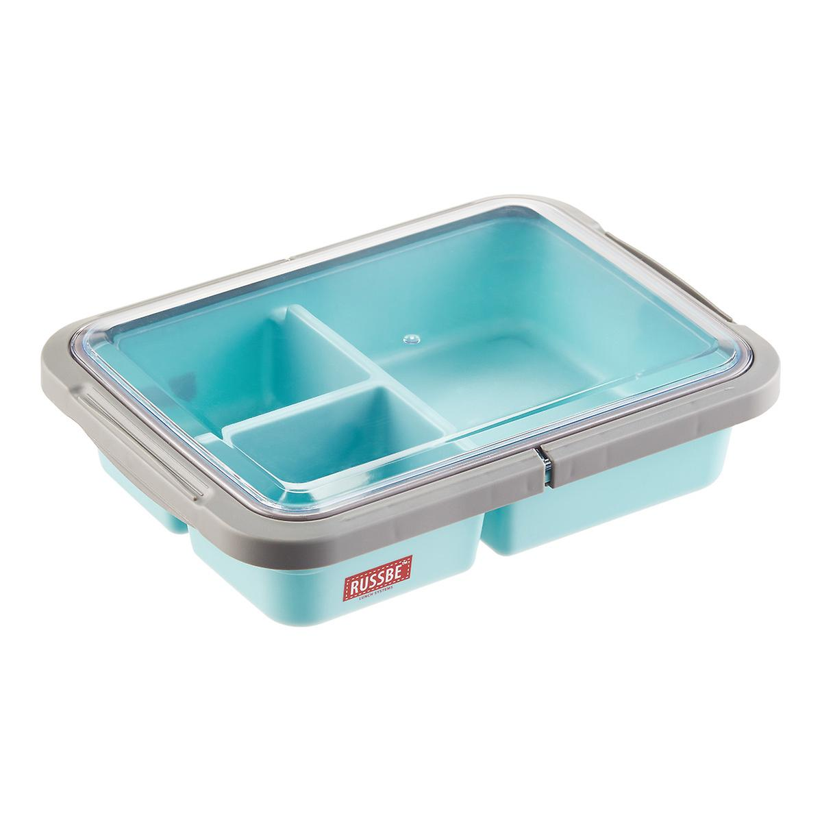 bento box 1 6 qt 3 compartment lunch bento box the container store. Black Bedroom Furniture Sets. Home Design Ideas