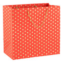 Gold Dot Persimmon Recycled Large Gift Bag