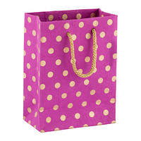 Purple and Gold Dot Recycled Small Gift Bag