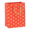 Gold Dot Persimmon Recycled Small Gift Bag
