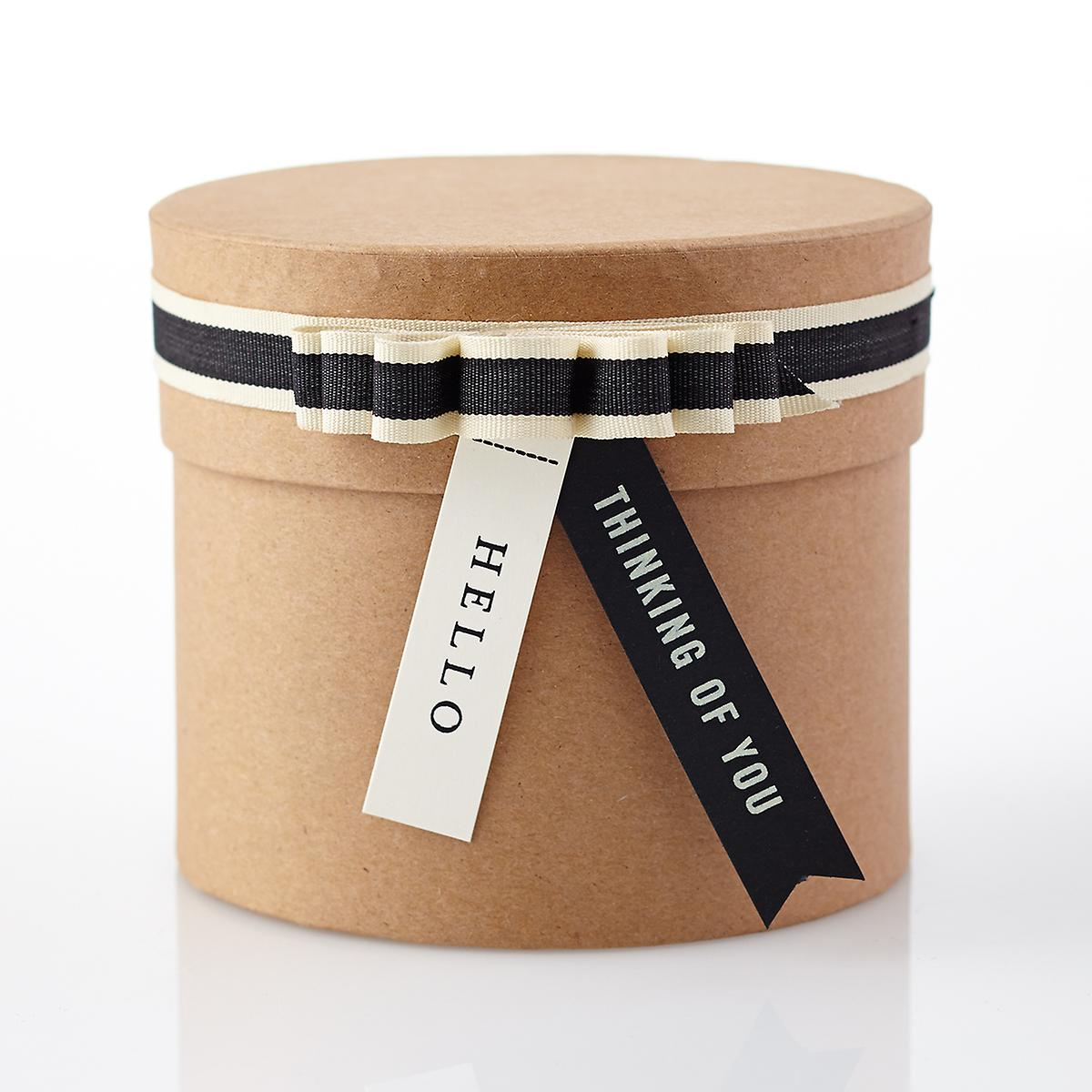 Small round kraft gift box the container store
