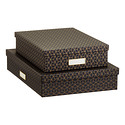 Bigso Hexagold Stockholm Office Storage Boxes
