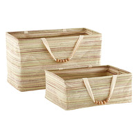Umbra Rectangular Boho Crunch Bins with Beaded Handles