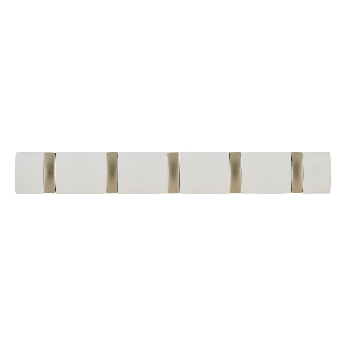 Whitewashed 5-Hook Flip Rack by Umbra