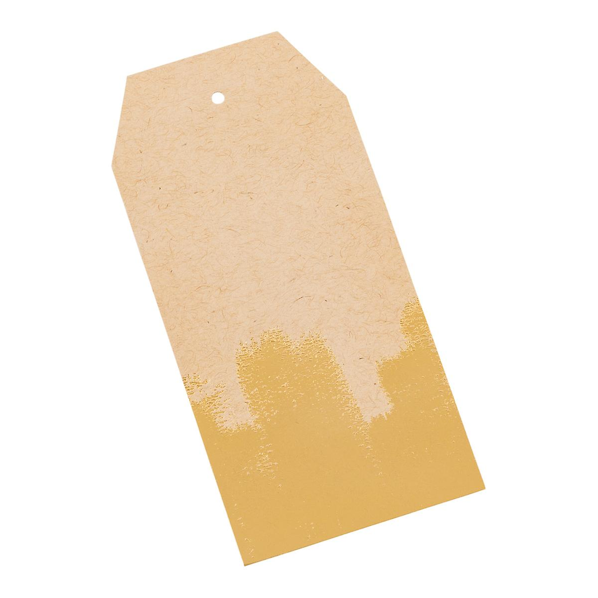 Gold Paint Strokes Kraft Gift Tags