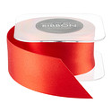 Persimmon Double Satin Ribbon