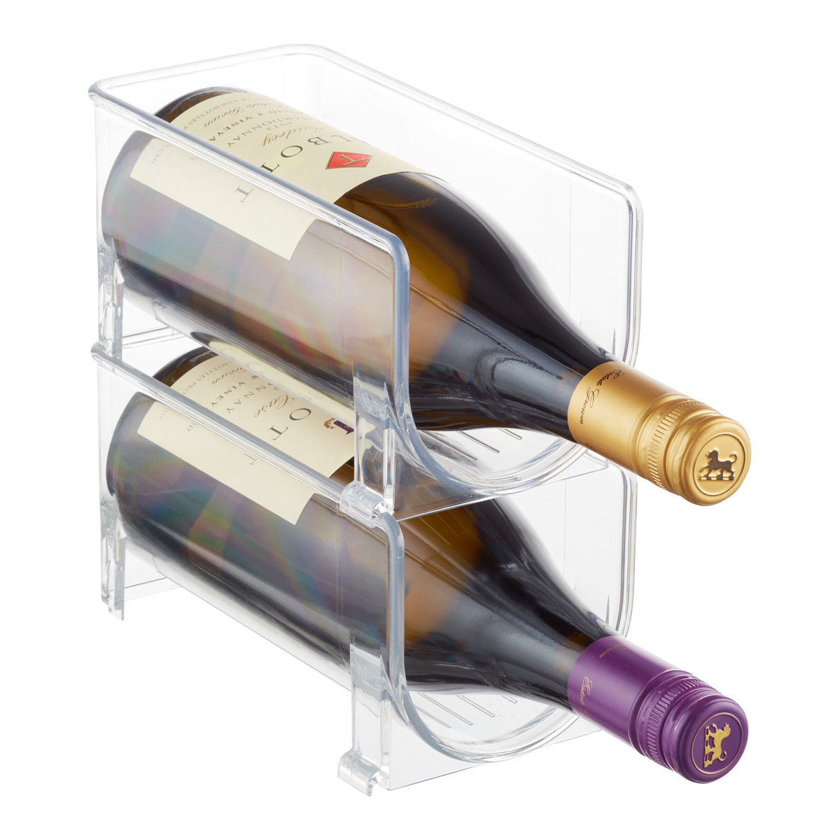 iDesign Linus Fridge Bins Wine Holder