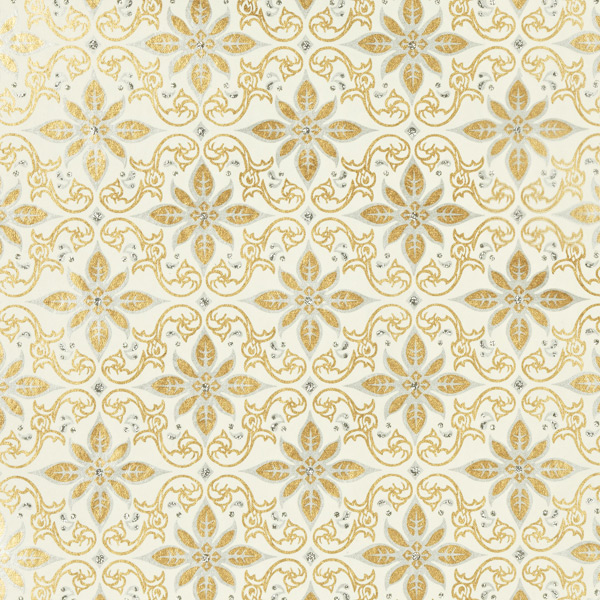Vivid Wrap Glitter Gold & Silver Scroll Wrapping Paper Sheets ...