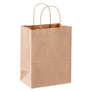 Medium Brown Kraft Gift Bag