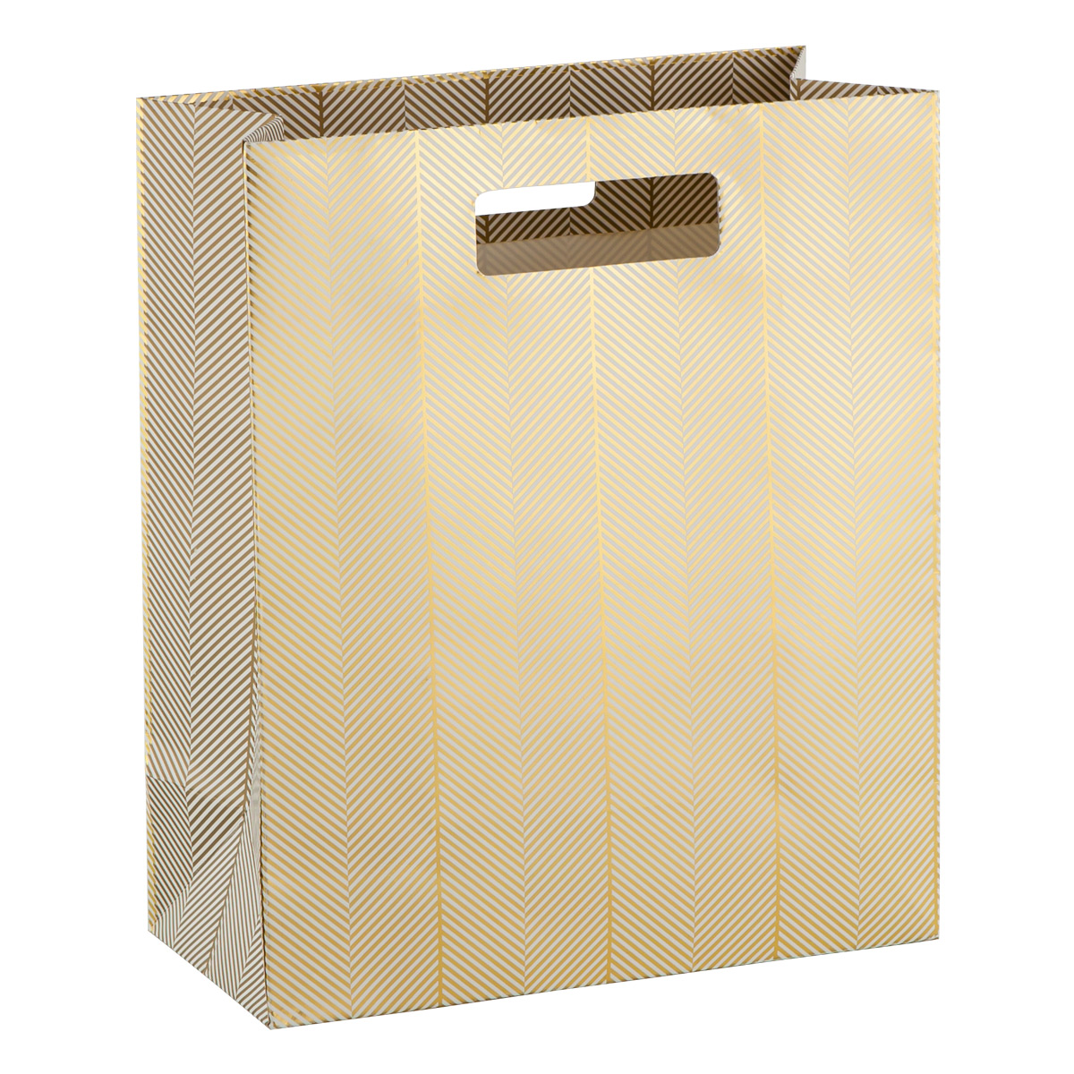 Large Golden Twill Foil Gift Bag