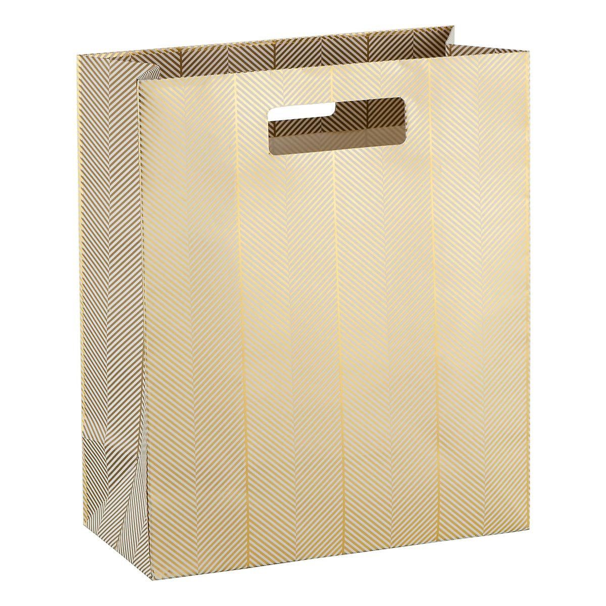 Large Golden Twill Foil Gift Tote