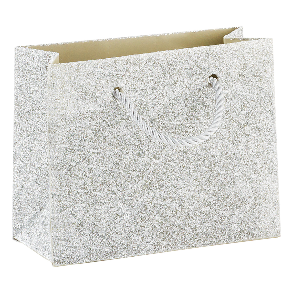 Mini Silver Glitter Gift Bag