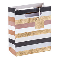 Medium Glistening Stripe Tote