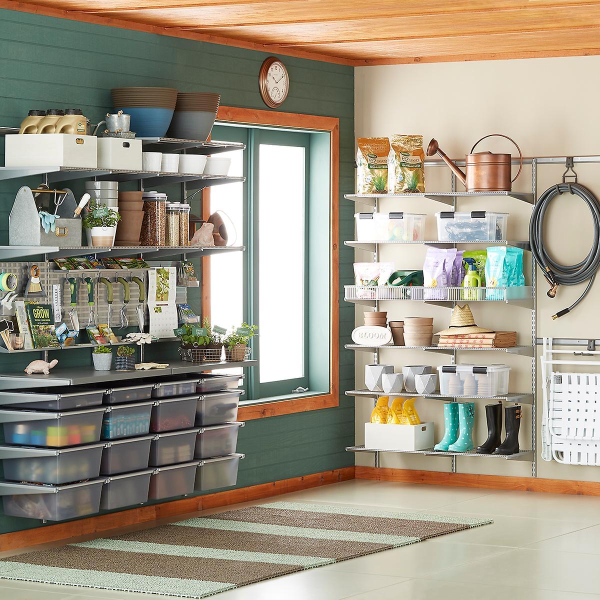 used store fixtures for garages idaho falls ideas - Platinum elfa utility Garage