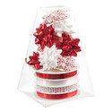 Red & White Bow & Ribbon Tower