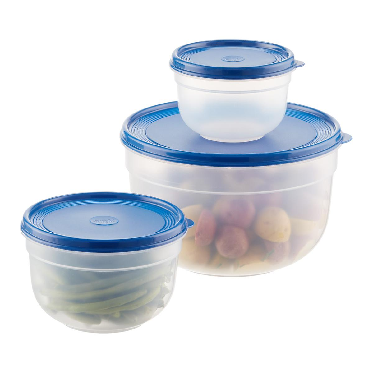 Round Plastic Food Storage Containers