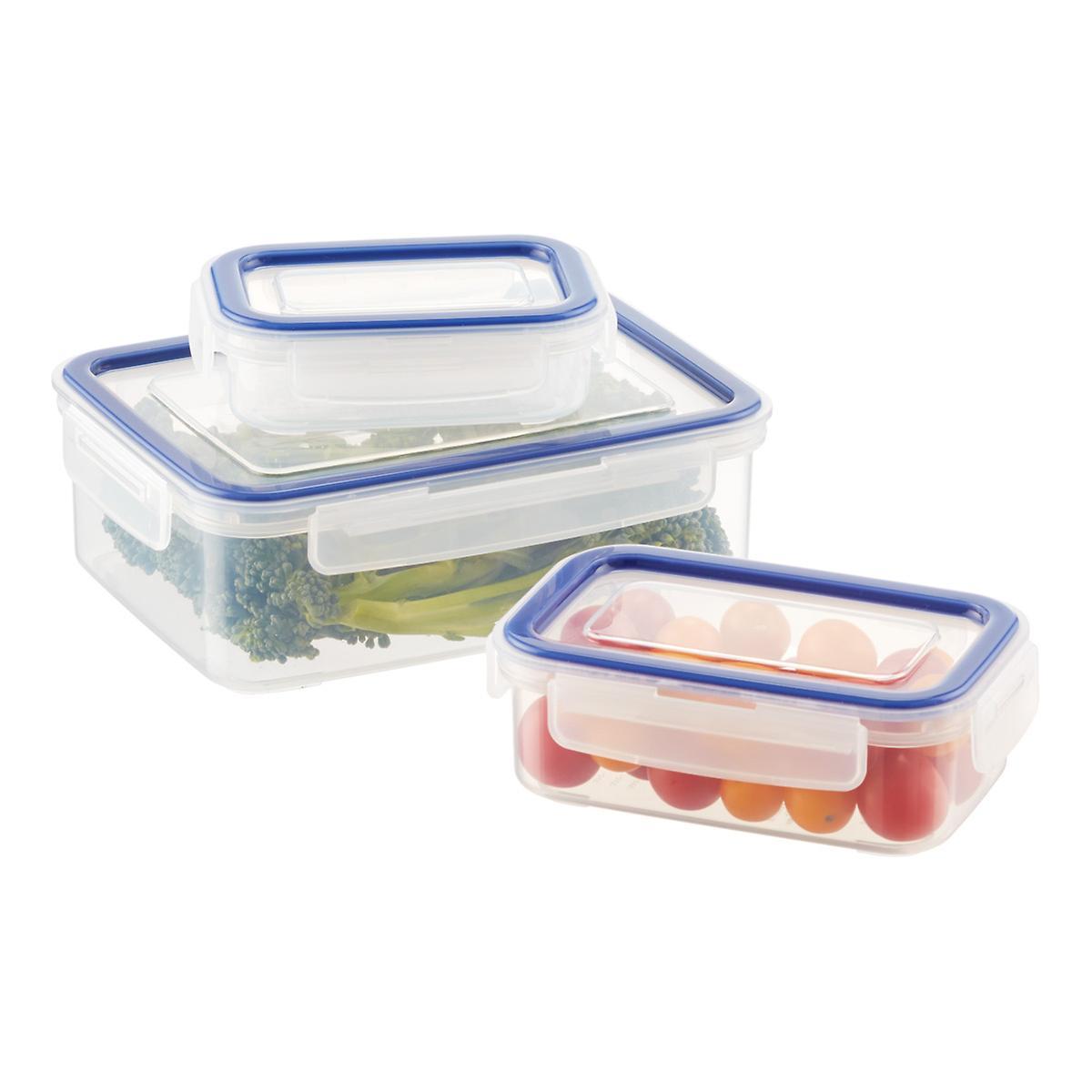 Lustroware Rectangular Food Storage with Silicone Seals