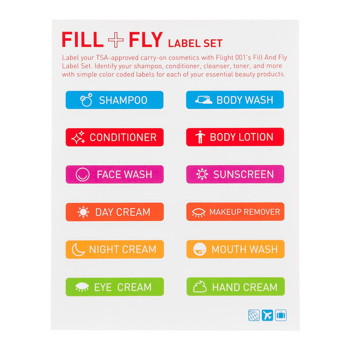 Flight 001 Fill & Fly Label Set