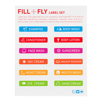 Happy Flight Fill & Fly Label Set