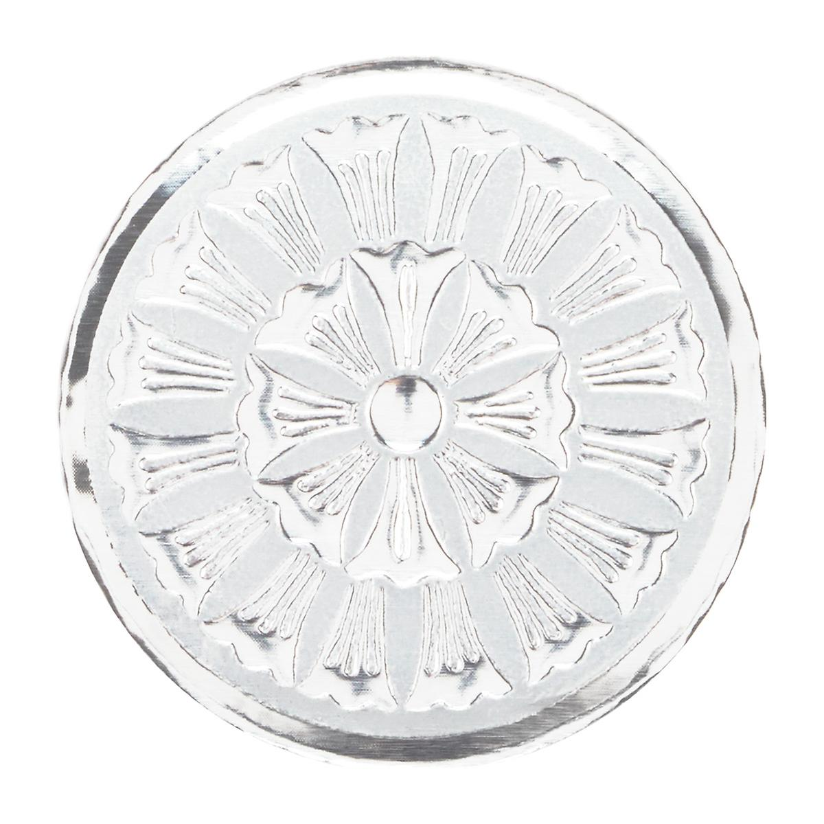 Silver Embossed Medallion Seals