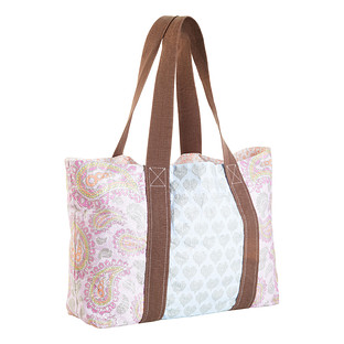 Peace & Love Paisley Reversible Reusable Tote