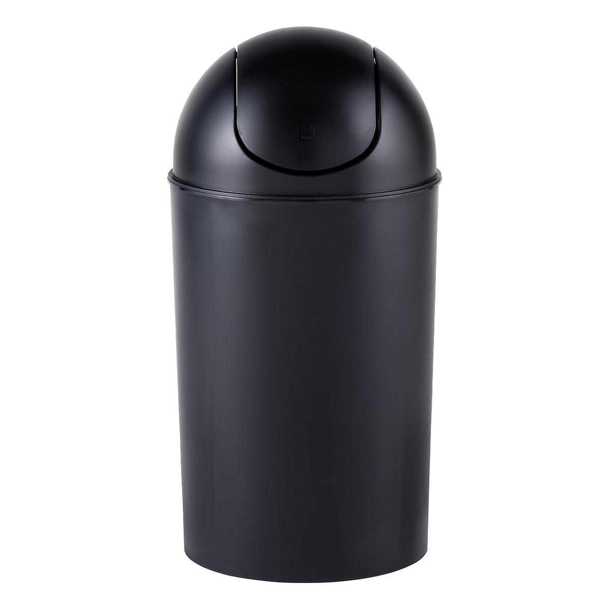 Umbra Black 10 gal. Swing-Lid Grand Trash Can
