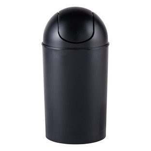 umbra black 10 gal swing lid grand trash can the container store. Black Bedroom Furniture Sets. Home Design Ideas