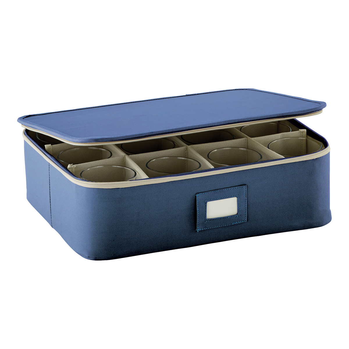 Blue Cup/Mug Storage Case  sc 1 st  The Container Store & China Storage Stemware Boxes \u0026 Glassware Storage Containers | The ...
