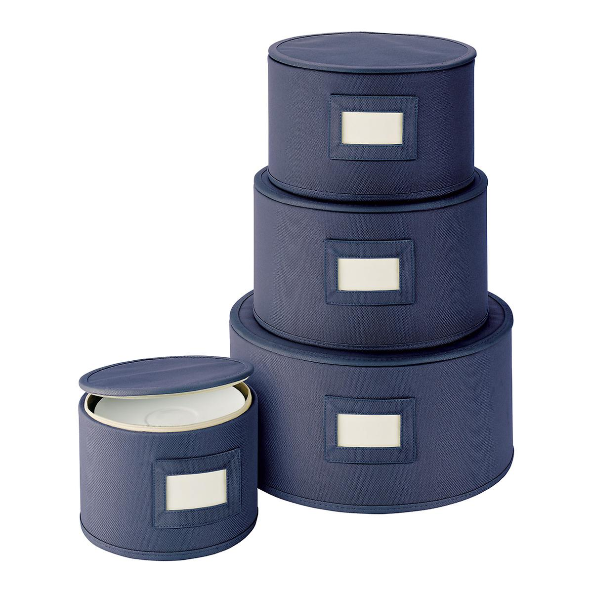 Blue Round Plate China Storage Cases
