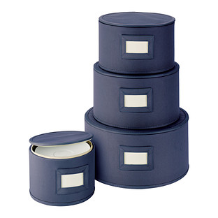 Blue Round Plate Storage Cases The Container Store
