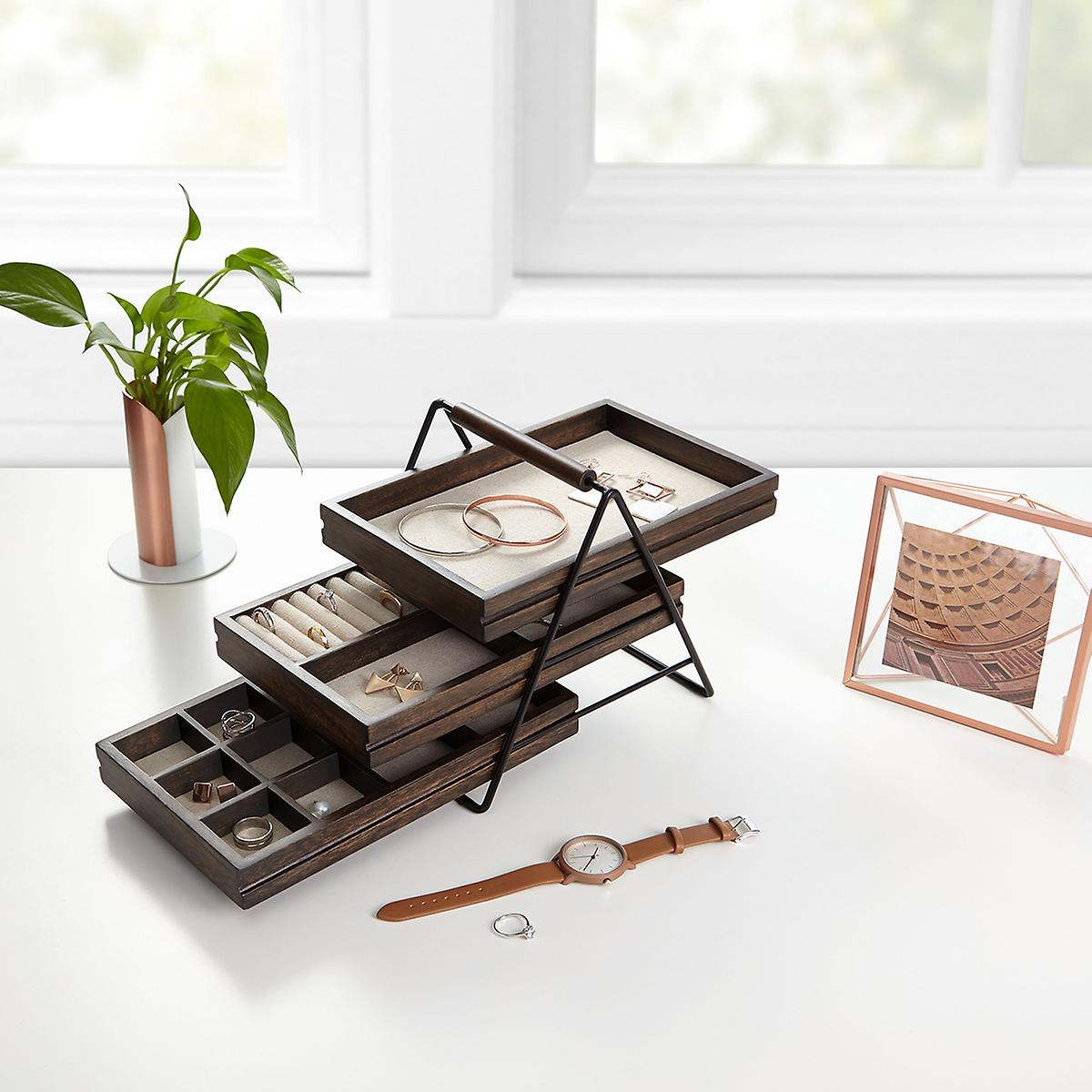 Terrace jewelry organizer by umbra the container store for Bathroom jewelry holder