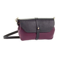 Black & Purple Primavera Leather Crossbody
