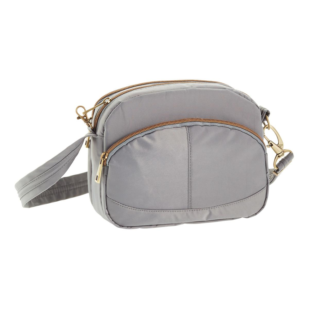 Travel Wallets Rfid Blockers Anti Theft Bags The Container Store Pouch Wiring Diagram Travelon Small Grey Signature Shoulder Bag