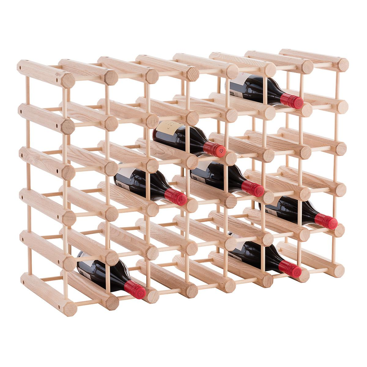 J K Adams Hardwood 40 Bottle Wine Rack The Container Store