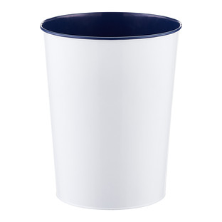 Three by Three Navy Vivid Metal Wastebasket