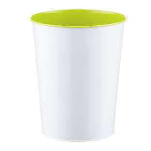 Three by Three Lime Green Vivid Metal Trash Can