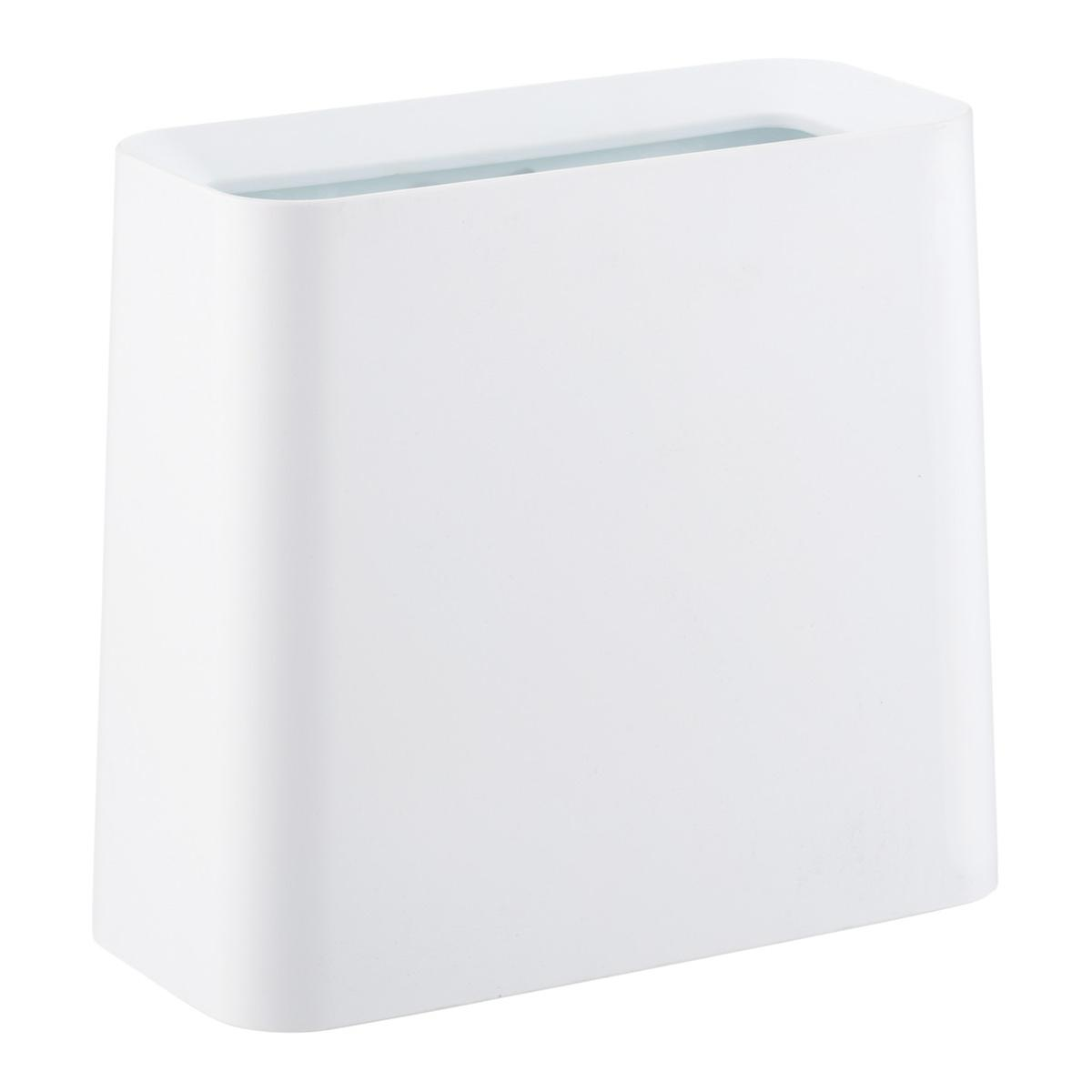 White Rectangle Tubelor High Grand Trash Can