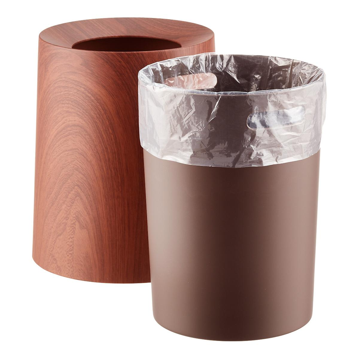 Rosewood Round Tubelor Rose Trash Can The Container Store