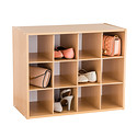 Natural 12-Pair Shoe Organizer